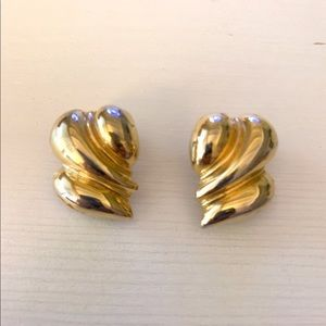 St. John Gold Clip on earrings
